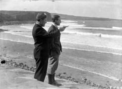 Lieutenant Cesare Sabelli and Captain George Pond.