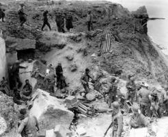 US Army Rangers at Point du Hoc, Omaha Beach