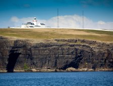 Loop Head Lighthouse, located on the Loop Head Peninsula in County Clare, which is one of the discovery points along a new heritage trail that has been developed on 60km of the Wild Atlantic Way (WAW).