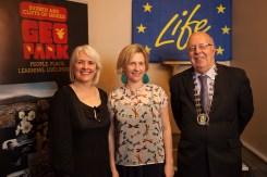 Carol Gleeson, Mary Birmingham & Cllr Richard Nagle - Burren Nature Sanctuary Winner of the Leave No Trace Award & Visitor Interpretation Award