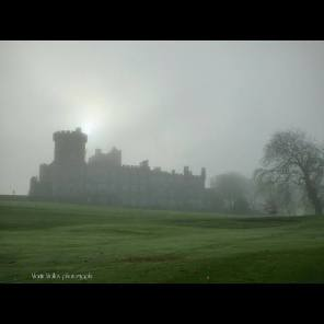 Dromoland Castle shrouded in fog on 20th November 2014. Photo Martin Molloy