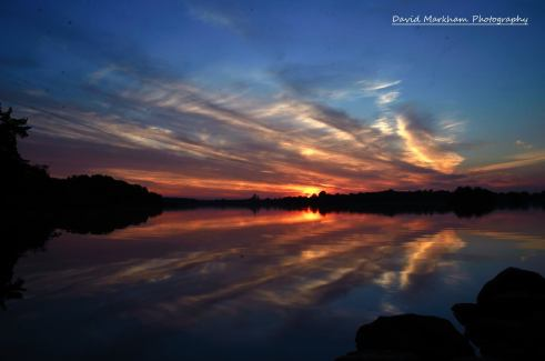 Sunset in Broadford, Co. Clare. Photo by David Markham
