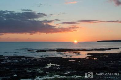 Sunset on Oct 12 as photographed from Clahane strand, Liscannor, Co. Clare, by Gary Collins Photography https://www.facebook.com/Garycollinsphotography