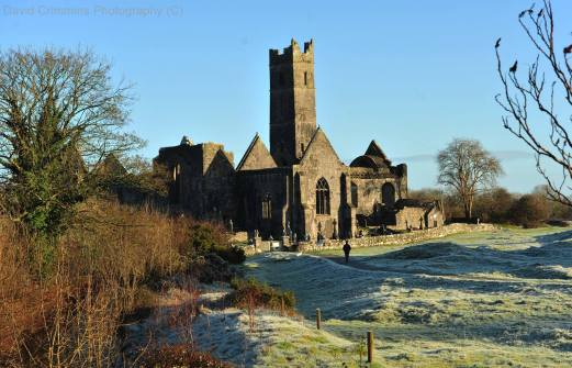 A frosty morning at Quin Abbey. Photo David Crimmins