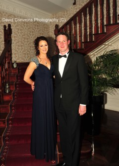 Aoife O Hanlan and Peter Howley attending the hunt Ball Last Night.
