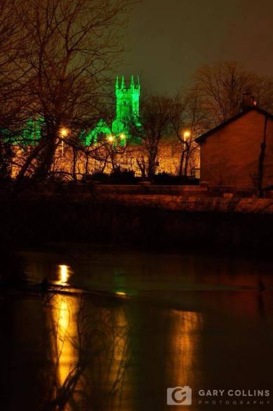 Ennis Abbey and the River Fergus, as seen last night from the Tulla Road Bridge, Ennis, Co. Clare. Pic Gary Collins Photography