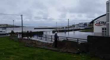 Flooding in Kilkee, County Clare. Pic Tony Burke