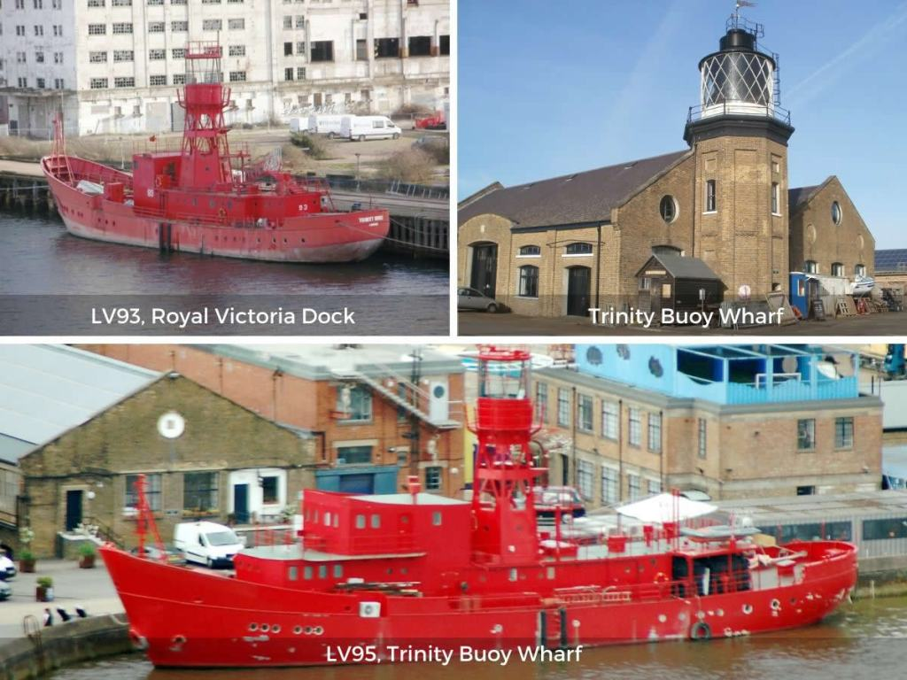 London lighthouses and lightvessels