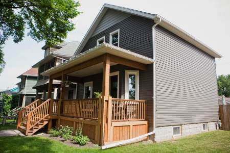 On Winnipeg home, new vinyl siding