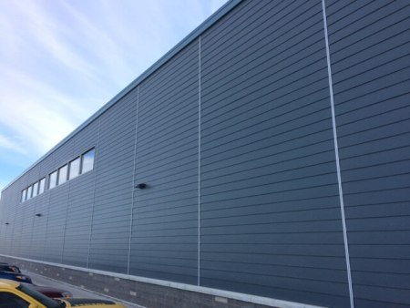 Commercial grade exterior siding on business