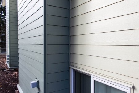 Commercial grade exterior cement siding on business