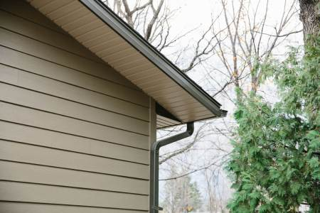 Close up of fascia and soffit on home
