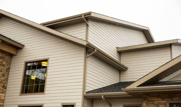 Hardie board siding building