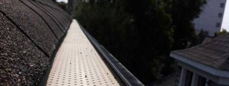 Eavestrough with gutter guard