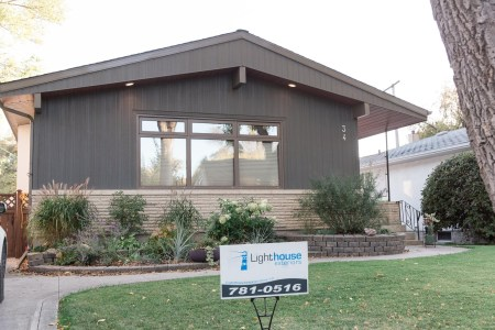 Winnipeg bungalow with vertical cement board