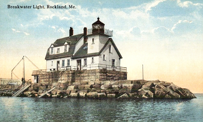 Rockland Breakwater Lighthouse Maine At