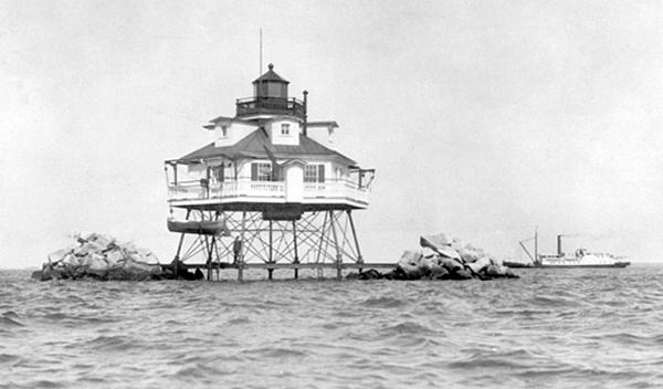 Thomas Point Shoal Lighthouse Maryland at