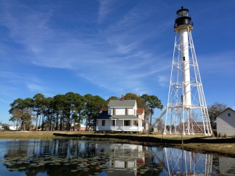Cape San Blas Light Station was moved to its new location in Port St. Joe in July 1914 to avoid encroaching erosion. Copyright Candace Clifford, 2015
