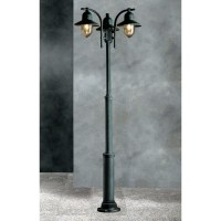 Garden Light Porto 90 Lamp-post Black/Green 94059/3L NV ...