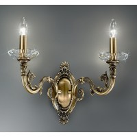Kolarz Contarini Crystal Wall Light Antique Brass 0299 62 ...