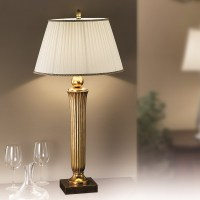 Orion Nechnitz Antique Gold Table Lamp - Lighting Deluxe