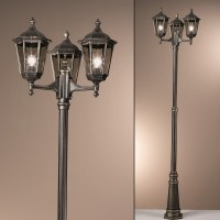 Orion Wurdach Black Outdoor Lamp-post - Lighting Deluxe