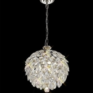 crystal sphere pendant light fitting for the ceiling