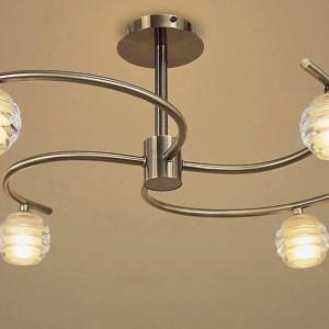 4 light antique brass light