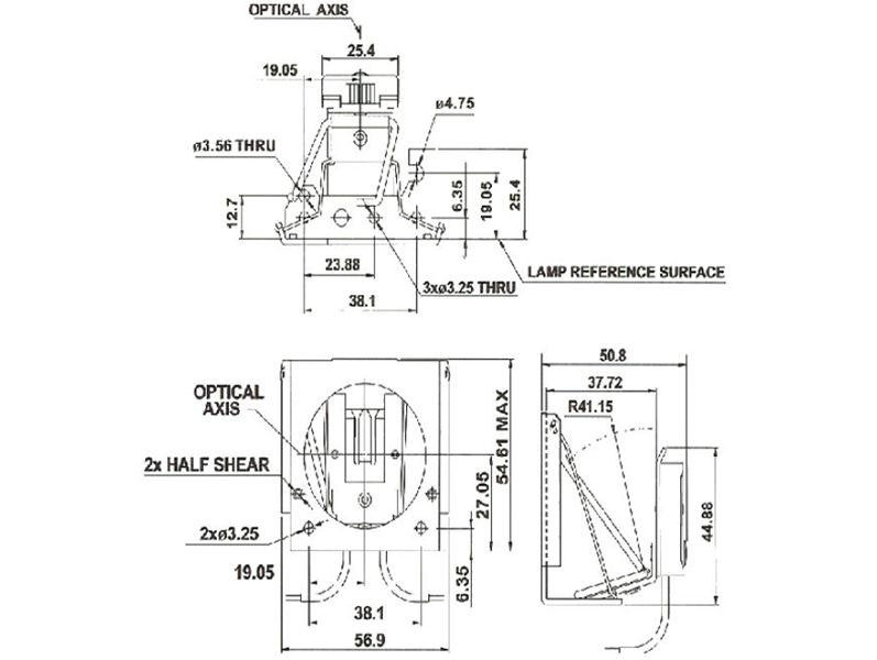 Part # G82FR, Stage and Theater Lampholders for Lamps Base