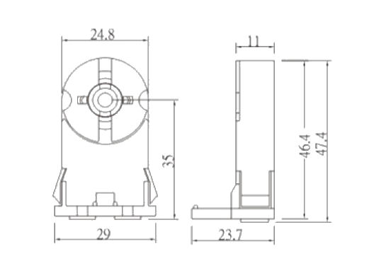 Part # T810, T8 and T12 Lampholders On Mitronix, Inc.