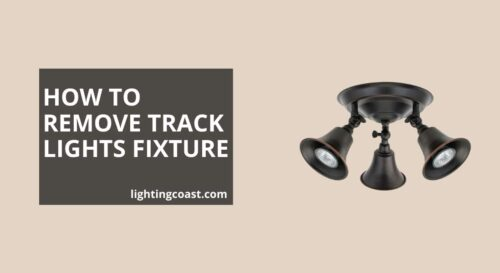 how to remove track lighting fixture