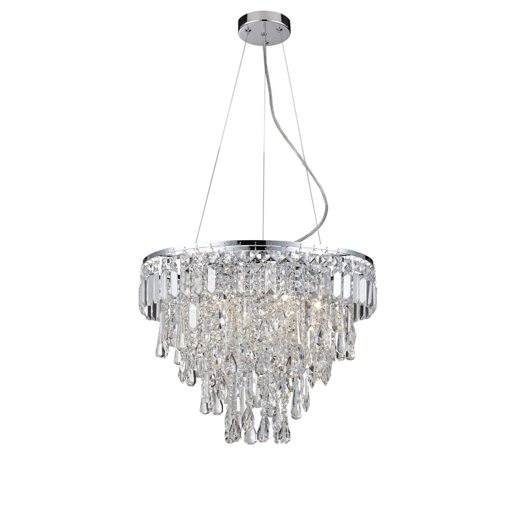 Bathroom Chandelier Lighting Bresna 6 Light Chrome And Crystal Bathroom Chandelier