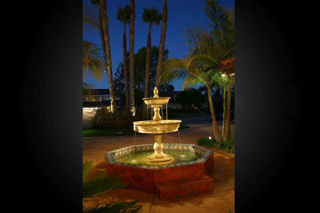 Water fountain focus adds value