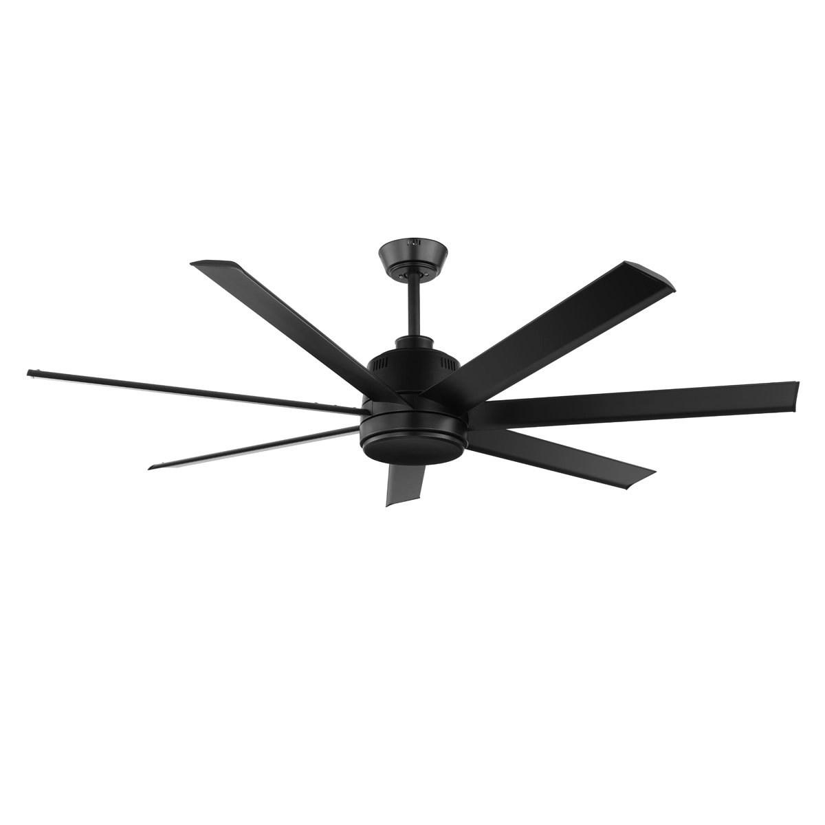 Matte Black Eglo Tourbillion 60 7 Blade Dc Indoor Outdoor Ceiling Fan With Remote Control Lighting Empire