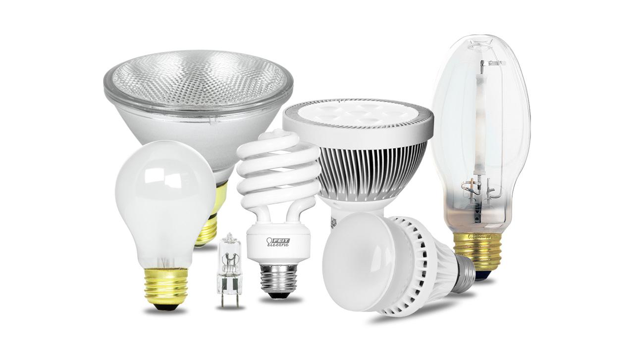 Three Types Light Bulbs