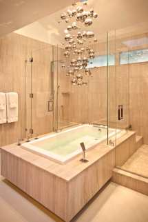 Modern Master Bathroom with Tub and Shower Combo