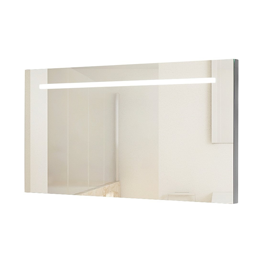 Illuminated Bathroom Mirror Wide 1250mm Backlit Bathroom Illuminated Mirror