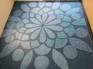 Mandala mural at Bridgewater State Hospital