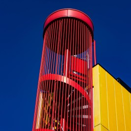 red-yellow-blue stairway