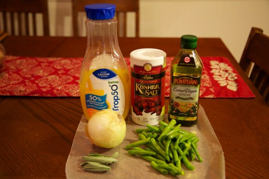Caramelized Green Beans and Sweet Onions Ingredients