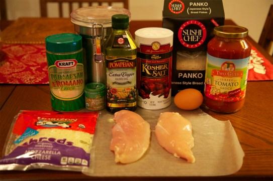 Oven-Fried Chicken Parmesan ingredients