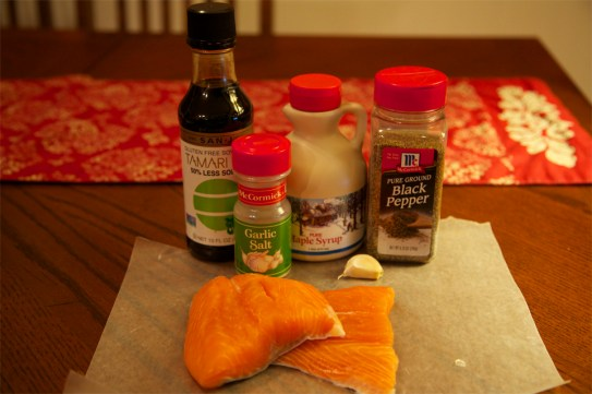 Maple Soy Salmon ingredients
