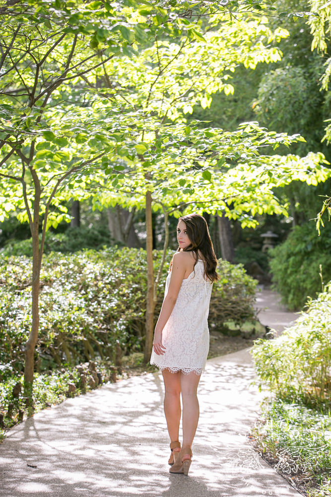Taylor  Senior Portraits at Japanese Gardens  Lightly