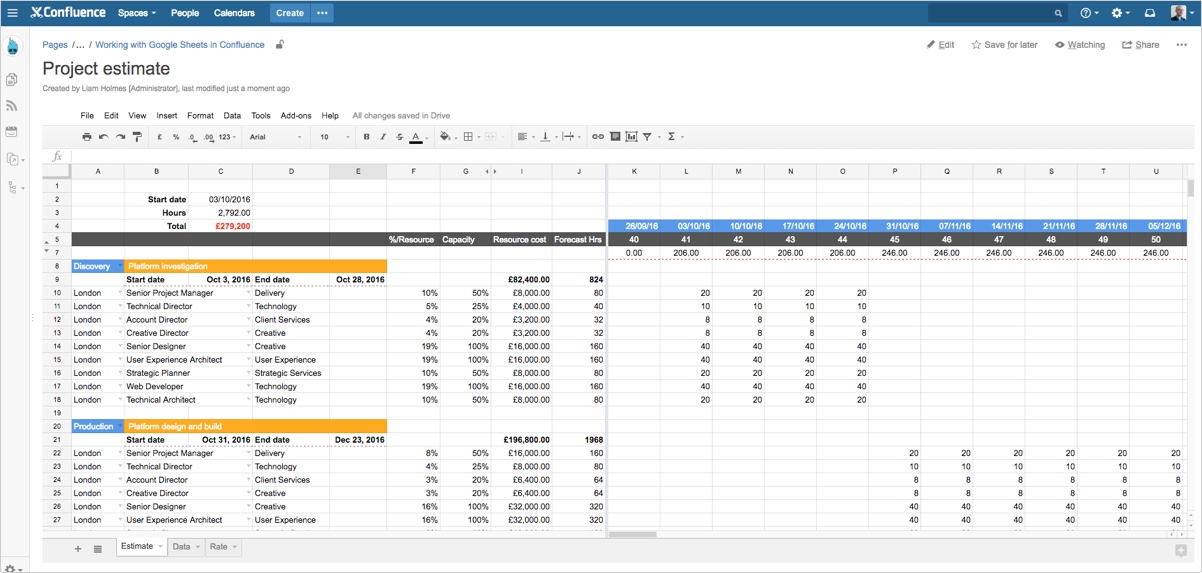 How to work with Google Sheets directly in Confluence