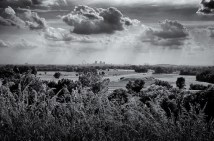 St.Louis skyline from Monks Mound, Cahokia