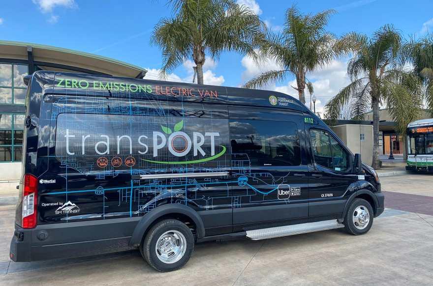 Lightning Electric passenger van in Porterville, CA