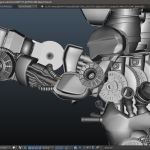 Throng 3D arm details