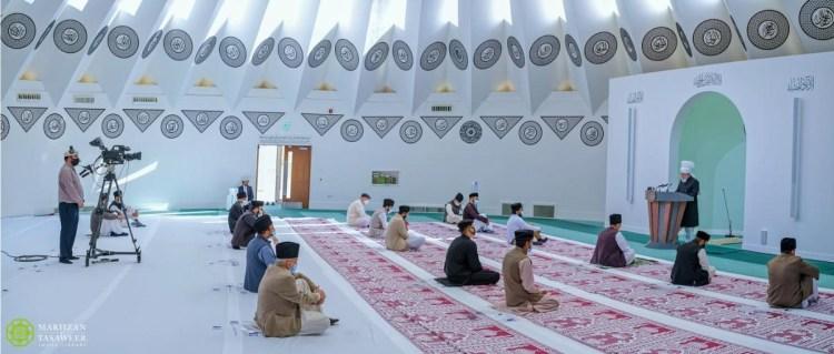 The World Head of the Ahmadiyya Muslim Community, the Fifth Khalifa (Caliph), His Holiness, Hazrat Mirza Masroor Ahmad, delivered the Eid-ul-Adha sermon