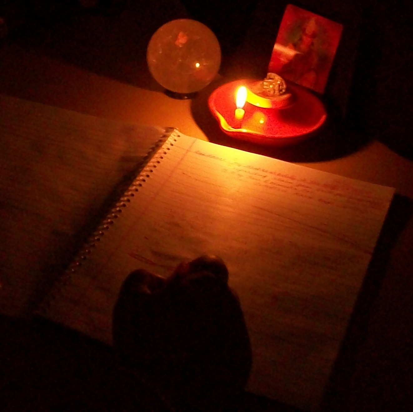 Image result for writing in candle light