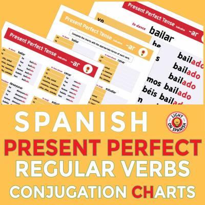 Spanish Present Perfect Tense Conjugation Charts